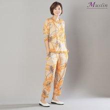 면체인나염 상하세트홈웨어 -HS1084-모슬린 엄마옷
