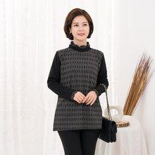 마담4060 엄마옷 고리배색폴라티셔츠-ZTE910116-