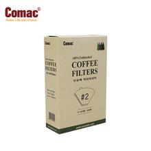 Comac 케이스 커피여과지 #2(100매)-FC2 [커피필터/거름종이/핸드드립/드립용품/커피용품]