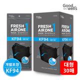 프레쉬에어원 황사/미세먼지 마스크 KF94 블랙30매(대형)