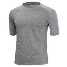 [파파브로]남성 여름 기능성 스판 라운드 반팔 쿨링 티셔츠 MB-MC-HNGR-그레이