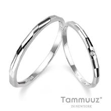 [타뮤즈] 14K 0.01캐럿 다이아몬드-스칼렛 D2001RR-화이트골드-커플링