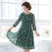 마담4060 엄마옷 꽃과나비플레어원피스 QOP906001