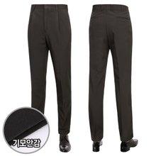 [파파브로]남성 기모 스판 양복 수트 원턱 정장바지 LO-KW-256-브라운