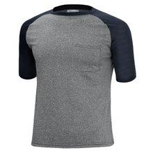 [파파브로]남성 여름 기능성 스판 라운드 반팔 쿨링 티셔츠 MB-MC-HNGR-차콜