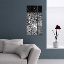 레오파드 3P 자작나무 액자 벽시계 CHR-3608