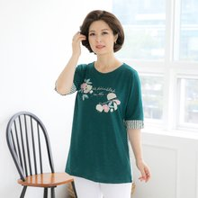 마담4060 엄마옷 반전매력티셔츠 QTE906024