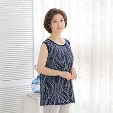 마담4060 엄마옷 세련사슬민소매 QSL906014