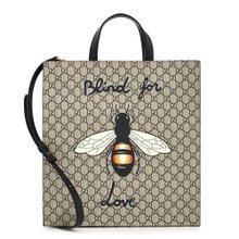 [구찌] 꿀벌 프린트 슈프림 450950 K571T 8666 공용 토트겸숄더백