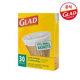 [GLAD공식]글래드 트래시백 스몰 30개입/분리수거재활용백/다용도비닐봉투