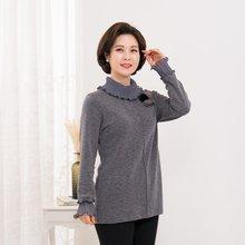 마담4060 엄마옷 러블리주름폴라티셔츠-ZTE912152-