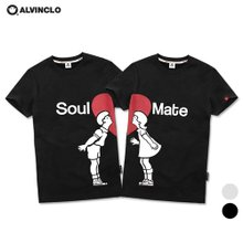 [앨빈클로]AST-3415 Soul Mate 러블리 커플 티셔츠 남자 여자 커플룩 단체
