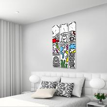 상상 3P 자작나무 액자 벽시계 CHR-3603