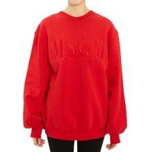 [엠에스지엠] 로고 2741MDM67 195799 18 여자 긴팔 기모 맨투맨 티셔츠