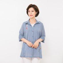 마담4060 엄마옷 플라워프린트줄지셔츠 QBL906081