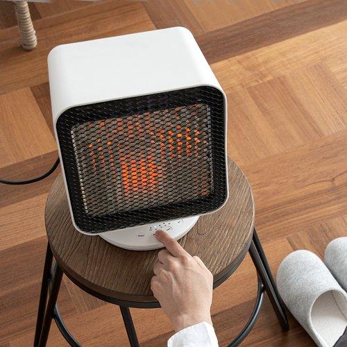 [포토리뷰 사은품증정] 클래파 가정용 미니 전기 사무실 발난로 리플렉트 에코 히터 CRH-300W(화이트) CRH-300W