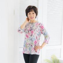 마담4060 엄마옷 러블리꽃라운드티셔츠-ZTE004032-