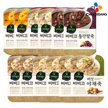 [CJ] 비비고 간편죽 12봉(단호박죽/통단팥죽/버섯야채죽/소고기죽/전복죽/누룽지닭백숙죽)