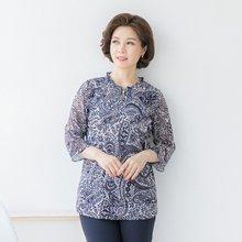 마담4060 엄마옷 페이즐리진주블라우스 QBL906033