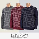 [마운틴가이드]겨울용 등산복/단체복/라운드넥/남성 골프 니트 티셔츠 NBM-T7432