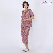 페이즐 상하세트 인견홈웨어-HW8062516-모슬린 엄마옷