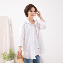 마담4060 엄마옷 단추포인트린넨셔츠 QBL906079