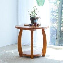 해찬솔 소나무 통원목 원형 원목식탁 테이블 800/식탁테이블/카페테이블/원탁