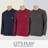 [마운틴가이드]겨울용 등산복/단체복/라운드넥/남성 골프 니트 티셔츠 NBM-T7431