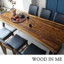 우드인미 장미목 6인용 원목식탁 세트1800A-as 의자6개포함/로즈우드/호피목