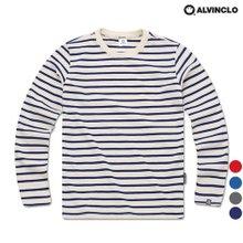 [앨빈클로] 깔끔한 베이직 스트라이프 티셔츠 AVT_389 남자 여자 단체 커플룩