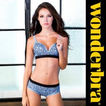 [Wonderbra] 원더브라 스포츠 브라팬티 블루 2종세트 WBW6F81_T