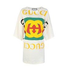 [구찌]20SS 539080 XJA9C 7136 여성 로고 오버사이즈 롱 티셔츠