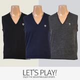 [마운틴가이드]겨울용 등산복/단체복/국내생산/남성 골프 니트조끼 NBM-B7455