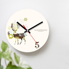 꽃사슴 무소음 벽시계 CHR-1024
