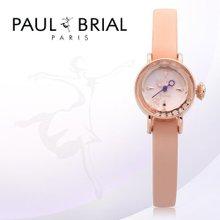 폴브리알(PAUL BRIAL) 여성시계(아작시오/PB8006RGPK/가죽밴드/백화점AS접수가능)