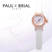폴브리알(PAUL BRIAL) 여성시계(아작시오/PB8006RGWT/가죽밴드/백화점AS접수가능)