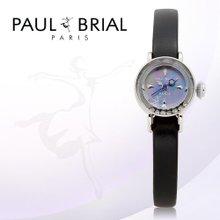 폴브리알(PAUL BRIAL) 여성시계(아작시오/PB8006WTBK/가죽밴드/백화점AS접수가능)