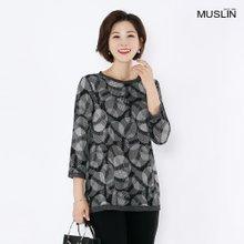 엄마옷 모슬린 빗살 도트 티셔츠 TS8080621