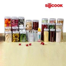 [실리쿡] 냉동실수납용기 1세트(원형+사각) (22종), TV방송구성