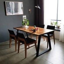 우드인미 장미목 4인용 원목식탁 세트1600A-ap 의자4개포함/로즈우드/호피목