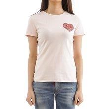 [토리버치] (53536 653) 여성 하트 반팔 티셔츠 19SS