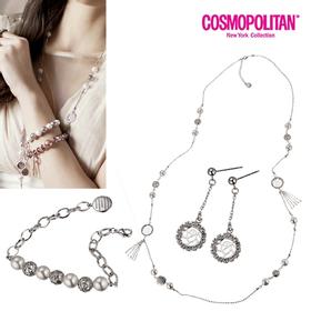 [코스모폴리탄] 한국 공식 본사 정품 주얼리 3종 세트(목걸이+귀걸이+팔찌) CPJ1310S