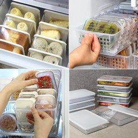 [실리쿡] [실리쿡] 납작이 시스루 알찬세트_밀폐용기,냉장고정리