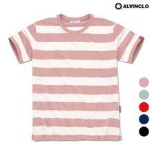 [앨빈클로]AST-3510 슬라브 스트라이프 오버핏 티셔츠