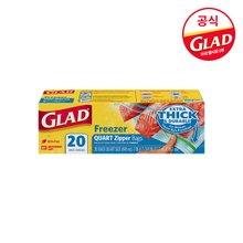 [GLAD공식]글래드 지퍼백 냉동용 중형/전자레인지사용가능/NO환경호르몬/프리미엄