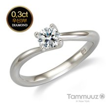 [타뮤즈] 14K 우신 3부 다이아몬드-웬디-D2021R-화이트골드-결혼반지-프로포즈