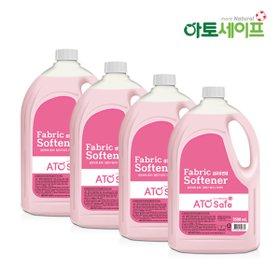 [아토세이프] 섬유유연제 2.5L X 4개(향선택가능:핑크로즈,후리지아)