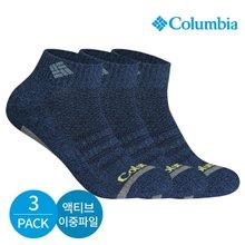 컬럼비아 남성 액티브 이중파일 바닥라인 발목양말 3P_NY