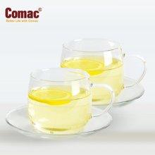 Comac 유리찻잔 200ml(2조)-T6/유리컵/유리잔/티용품