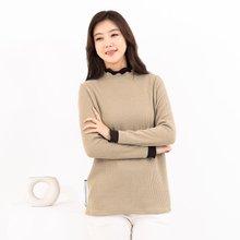 마담4060 엄마옷 이중배색폴라티셔츠-ZTE911088-